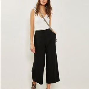 Tribal wide leg cropped pant